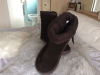 John Rocha brown real suede boots