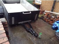 Substantial trailer for sale, with drop down tailgate and electrics, vgc.