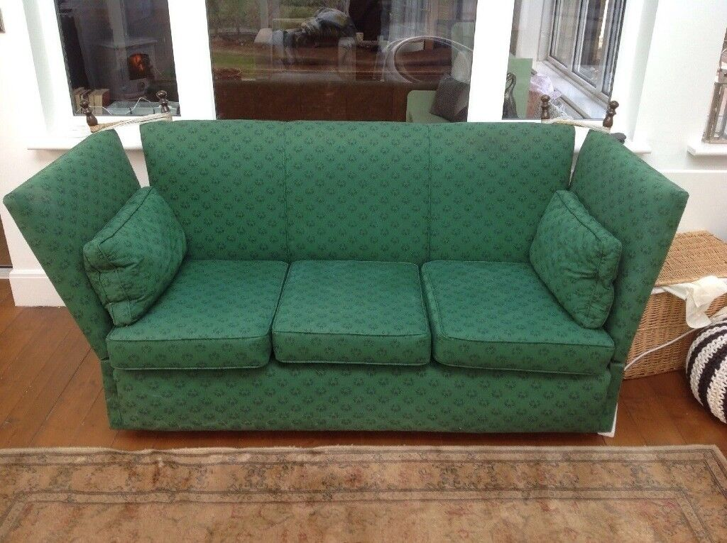 Original Knoll Drop Arms Sofa Refurbished