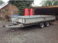 Ifor Williams 16 feet trailer with ramps