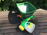Miracle grow mixer/applicator & fertilizer/grass seed spreader applicator all in excellent condition