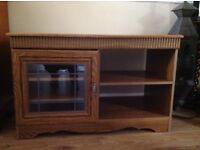 Oak effect TV cabinet