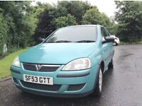 2004 Vauxhall Corsa 1.2 life full year mot ideal first time car
