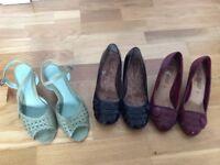 Leather shoes ladies £3 per pair