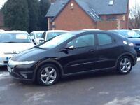 2006 Honda Civic 2.2 I-CTDi Black 5-door hatchback