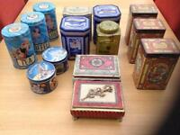 Vintage tins and containers good condition dust comes free!