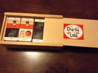 Charlie and Lola wooden dominoes set