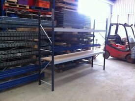 2 TIER HEAVY DUTY COMMERCIAL WAREHOUSE GARAGE SHOP RACKING SHELVING BAY UNIT