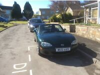 Mazda Mx5 1.8 green open to offers