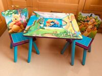 Winnie The Pooh Table and Chairs