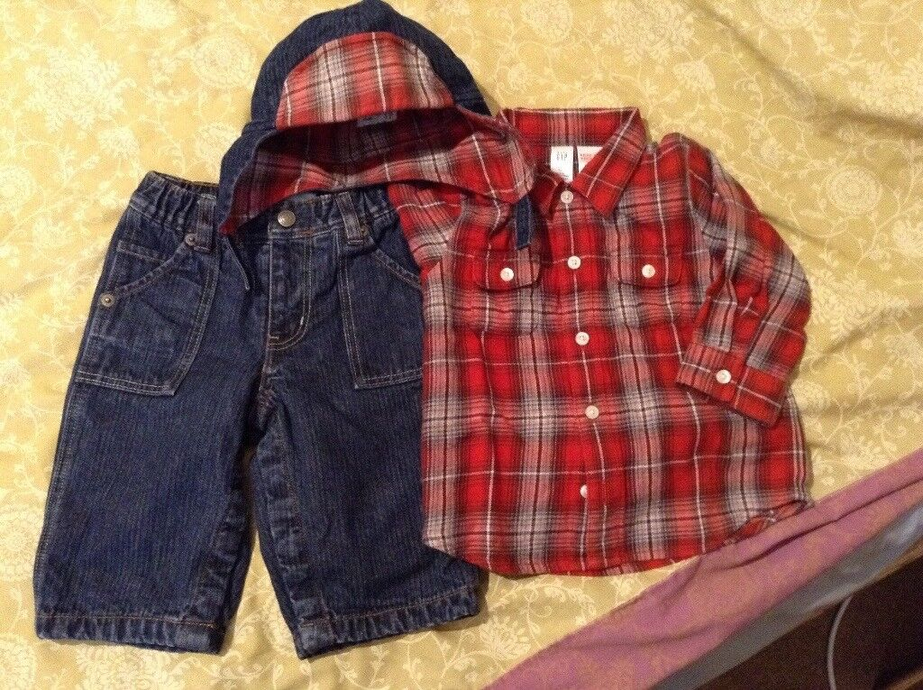 **reduced now £3** 3pc boys 6-12months GAP set