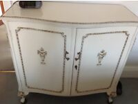Shoe cabinet used cream with a few minor scratches for sale