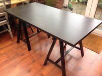 Ikea dark brown trellis table. Reduced to £20.00.