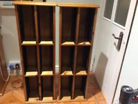 Two pine cd storage cabinets