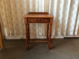 SMALL PINE ONE DRAWER SIDE TABLE / WINDOW TABLE / TELEPHONE TABLE / HALL TABLE