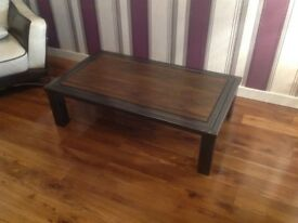Reclaimed wood steel framed table