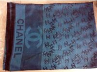 Gorgeous large Chanel Scarf/shawl blue brand new