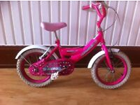 "Girls bike - fully refurbished 14"" Sparkle Bumper - suitable for 4-6 year olds"