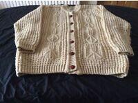 Aran sweater fit 16/18 new ocean view knitwear £30
