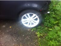"""VAUXHALL CORSA D LIMITED SXI WHITE ALLOY WHEELS X4 WITH TYRES """"bargain"""""""