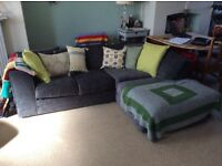 Grey left hand corner sofa