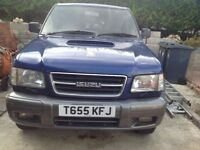 Spares repairs. Isuzu trooper 3ltr citation lwb. 8 months mot selling due to low oil pressure.