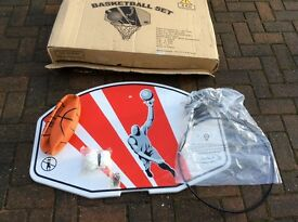 Basketball set boxed and mint condition