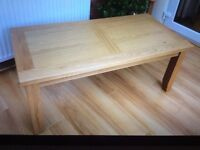 Solid Oak Coffee Table; New / Boxed