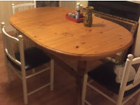 dining table in real pine wood ( NO CHAIR )