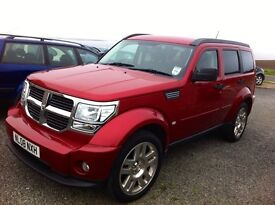 Dodge Nitro SXT CRD, 2.8Turbo, Metallic Red, Automatic 4X4 66,046 Miles since new, MOT 2017.