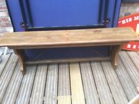 Large solid bench