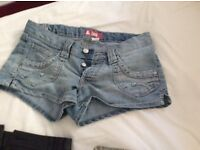 Shorts x3 all used the black high waisted pvc ones not been worn but have no tag