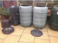 Three Water Butts for Sale