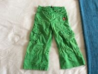 Green George cargo trousers, 3-4 years, good condition