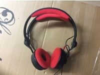 Sennheiser HD 25-1 DJ Red / Black Headphones with split headband design