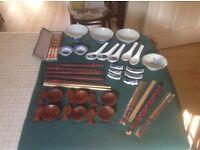 Chinese crockery and chopsticks