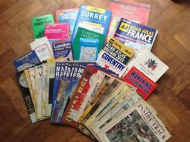 Maps and road atlas selection (job lot)