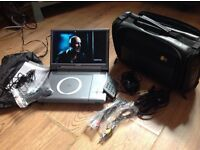 Portable logic DVD player and 10 DVDs