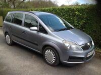 "Vauxhall Zafira Life 2006 ""56"" 1.6 Petrol 7 Seats Low Mileage MOT FSH"
