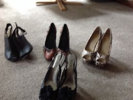 Ladies heeled shoes size 6