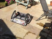 Halfords double buggy bike trailer