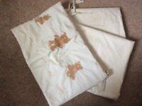 Gingham nursery curtains (pair at 168*173cm) + cot bumper