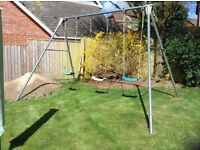 Giant TP swing set with three seats. Good condition. Buyer collects.