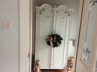 Lovely solid wood refurbished vintage French style wardrobe