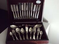 56 PIECE SILVER PLATED BEADED DESIGN CANTEEN OF CUTLERY BY COOPER LUDLAM OF SHEFFIELD