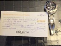 Tag Heuer watch with receipt and certificate from Goldsmiths