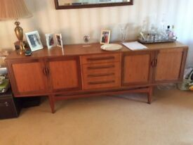 G Plan dining table and 6 chairs and sideboard all in excellent condition