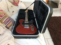 FENDER BLACKTOP TELECASTER WITH FITTED HARDCASE.