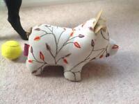 Fabric piggy doorstop