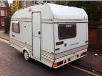 OMEGA COMPASS 2 BERTH CARAVAN, LOVELY CONDITION, LOTS OF EXTRAS, READY FOR USE, 1ST TO SEE WILL BUY
